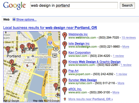 Web Design in Portland