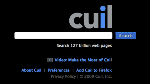 cuil Search Engines: The Top Ten Search Engines