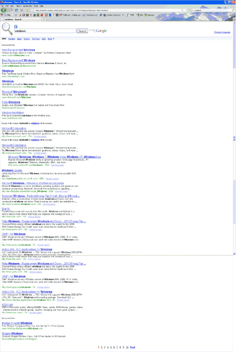 Windows search results screen shot