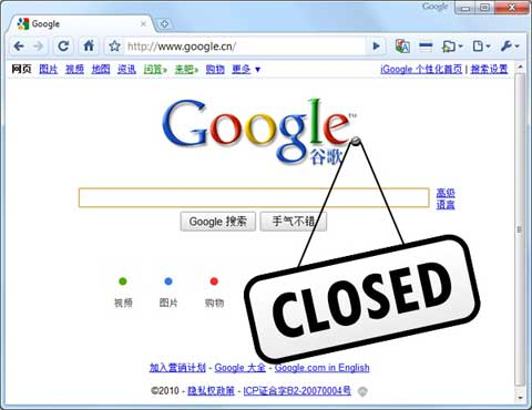 Google Closed in China