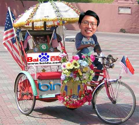 rickshaw bing and Baidu Partner
